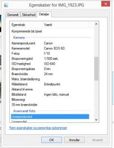 EXIF i Windows