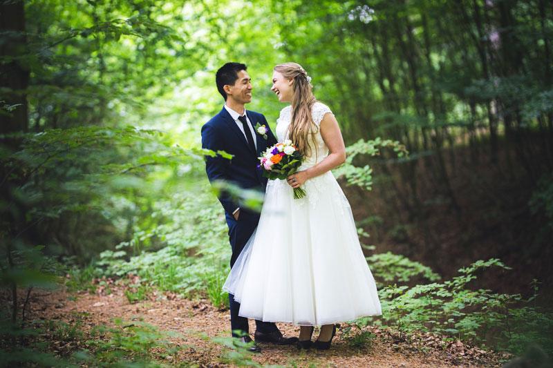 Portræt af brudepar