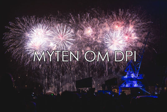 DPI til web myte