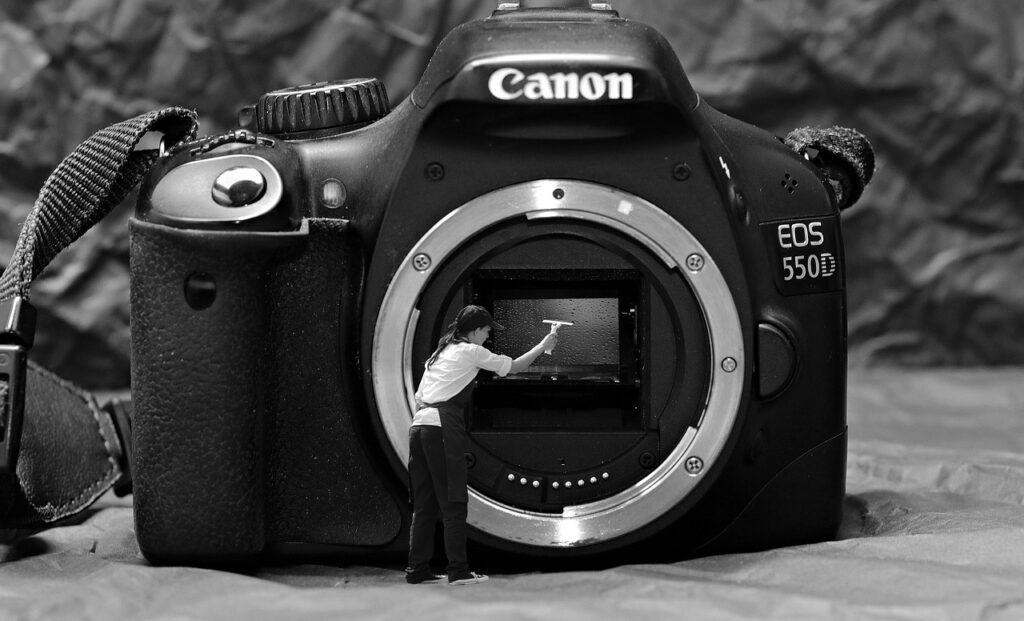 rens af kamera